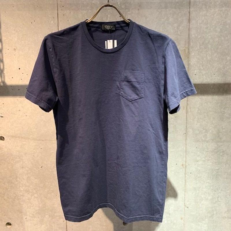 【PAZZO】製品染め クルーネックTシャツ ネイビー