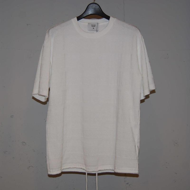 【 291295=HOMME】 ナバホ柄ジャガードTシャツ ホワイト