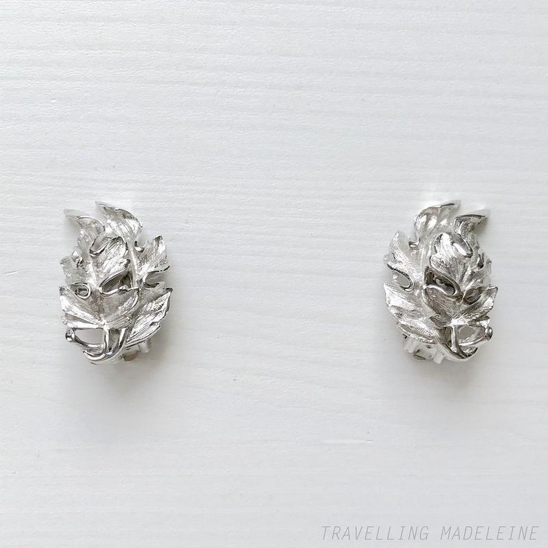 LISNER 1950's Silver Leaf Clip Earrings シルバー リーフ クリップイヤリング(Sp19-123E)