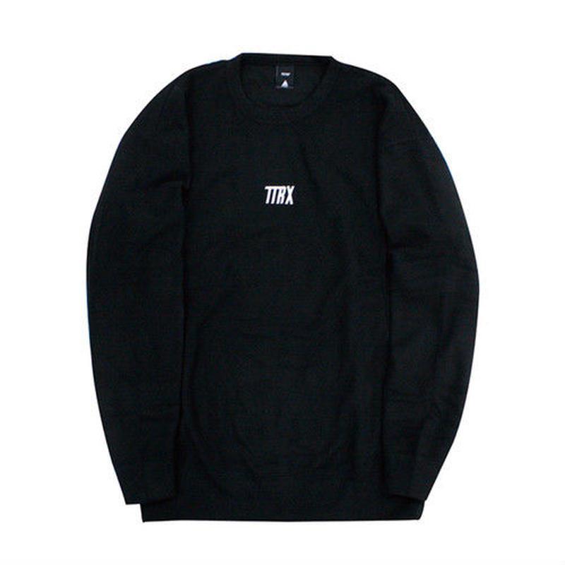 [TREKKIE TRAX × THE TEST] Fleece Crewneck Tops (Black)