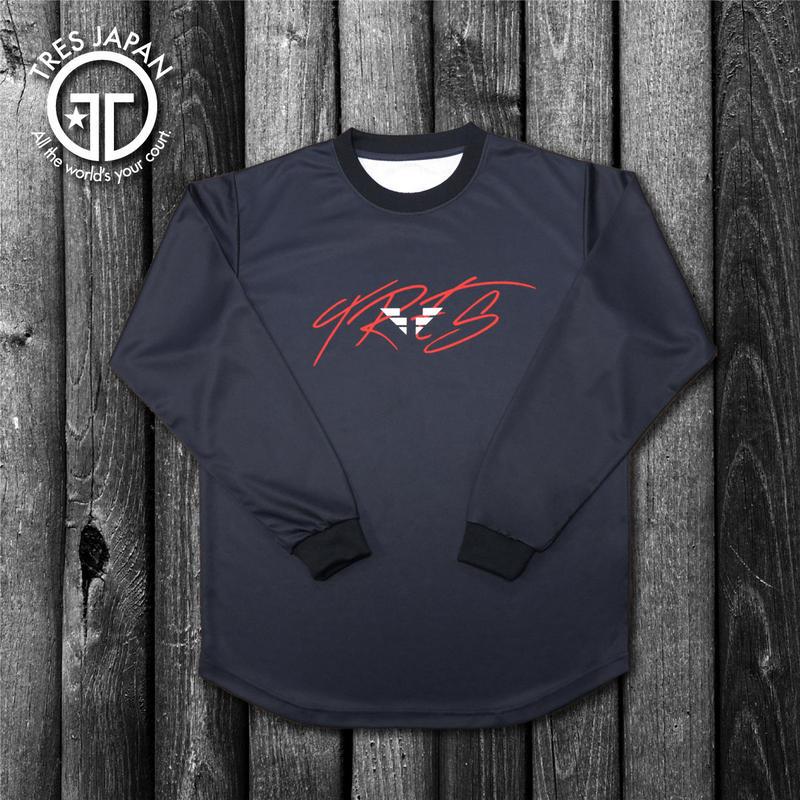 【TRESJAPAN】HeiQ ウイングロゴ ロングTシャツ(ブラック)