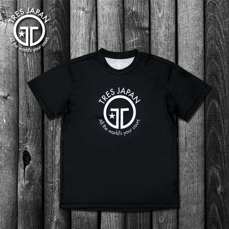 【TRESJAPAN】イージードライHeiQ Tシャツ(ブラック)