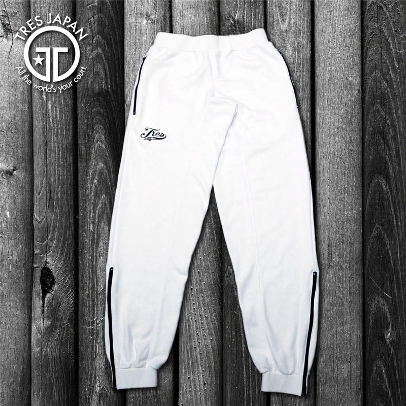 【TMC】ZIPPER SWEAT PANTS(White)