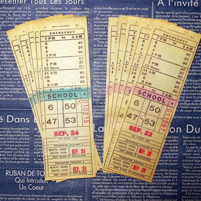 【アメリカ】1975年頃のバスエマージェンシークーポン 2種各5枚(トータル10枚)セット