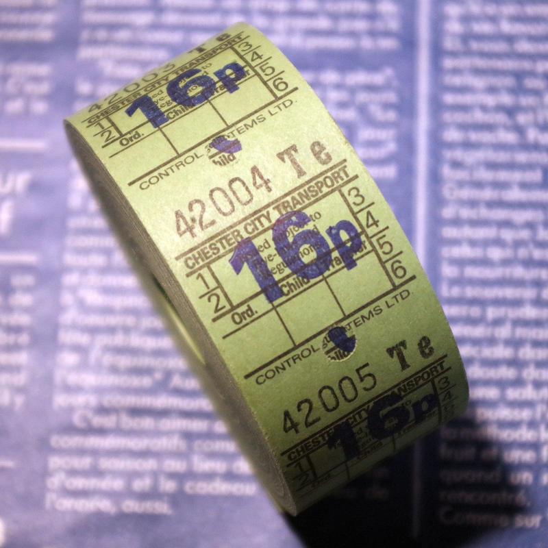 【イギリス】ヴィンテージ バスチケット グリーン 16p 1巻 1000片