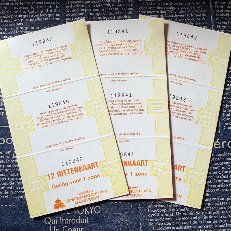 【オランダ】マーストリヒトの12回分バス乗車券(3セット)
