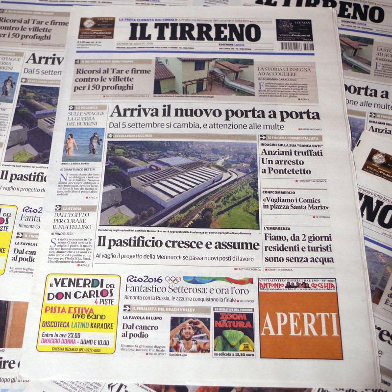 【イタリア】新聞1日分(20ページ前後)