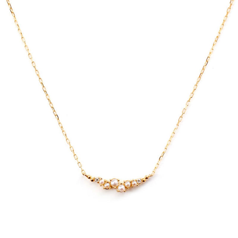 sowi:ソーイ 《Petit Blane Pearl Necklace - K10》プチブラン パール・ダイヤネックレス