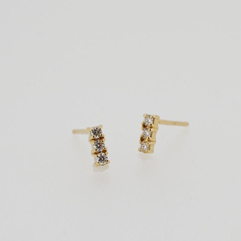 sowi:ソーイ 《K18YG ダイヤモンド ピアス》302E0103-1