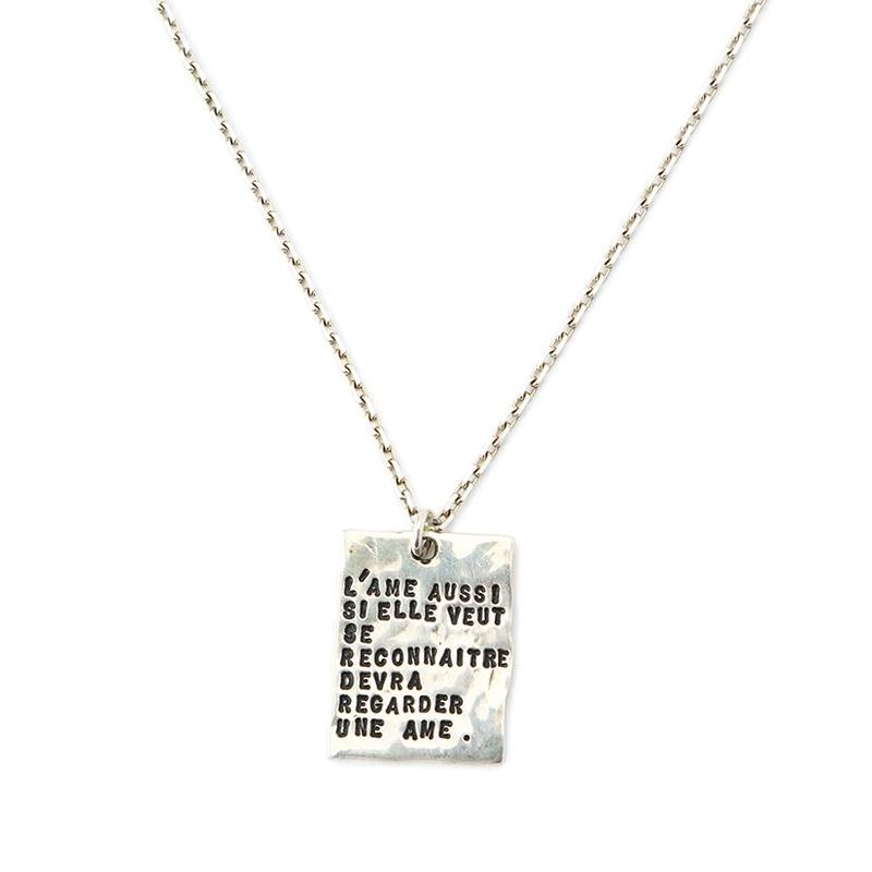 SERGE THORAVAL:セルジュトラヴァル《Reflet Necklace:025 P26》魂ネックレス GOLD SILVER