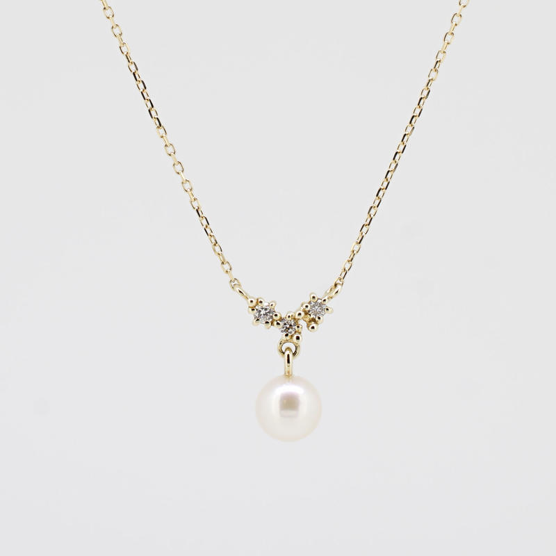 sowi:ソーイ 《K10YG ダイヤモンド あこやパール ネックレス》309N0099-TY
