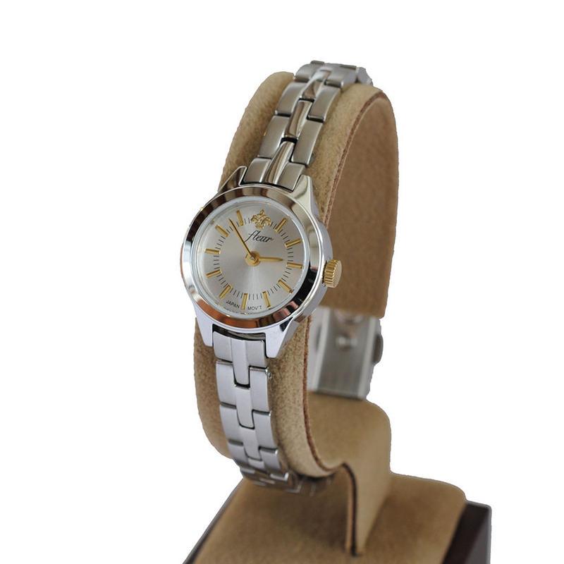 fleur:フル―ル 《F001 - SILVER》腕時計 メタルバンド