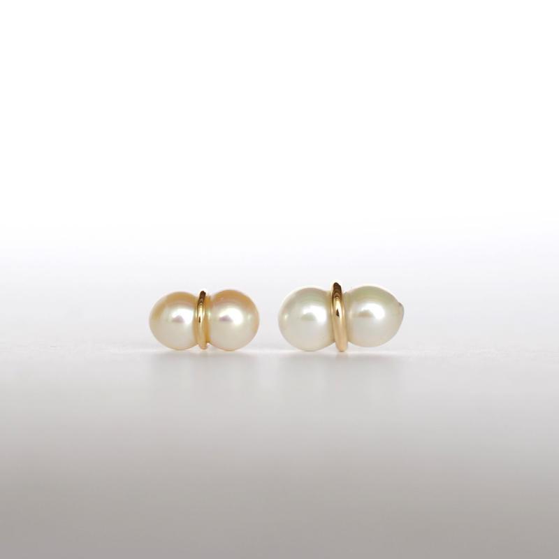 januka:ヤヌカ《Twin pearl collection 双子パールピアス S ペア》TWP-01 S
