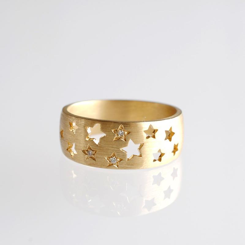 sowi:ソーイ 《K18YG ダイヤモンド リング・スターダスト》302R0111