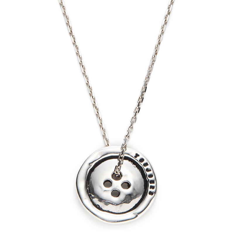 SERGE THORAVAL:セルジュトラヴァル《TOUJOURS Necklace:316 P-3》トゥジュール ボタン ネックレス SILVER