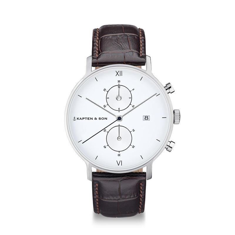 KAPTEN&SON:キャプテン&サン《CHRONO SILVER 》腕時計