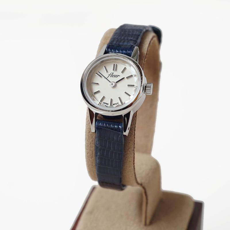 fleur:フル―ル 《F002 - SILVER/NAVY》腕時計 リザードベルト