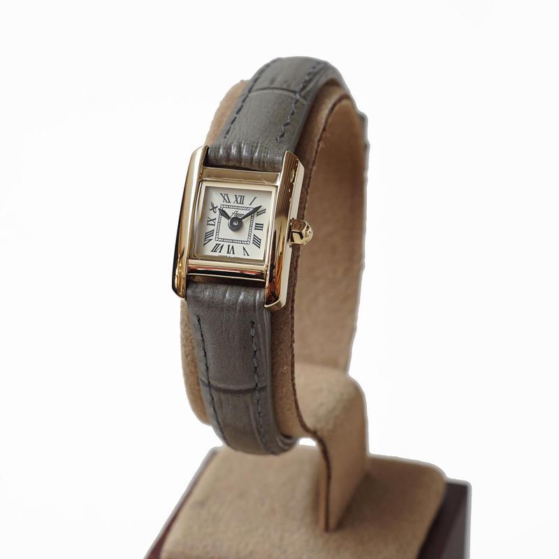 fleur:フル―ル 《F003 - GOLD/GRAY》腕時計 レザーベルト 限定カラー