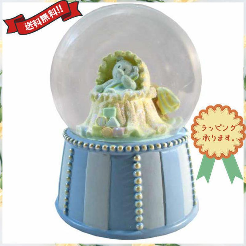 ウォーターボール オルゴール 出産祝い 男の子 ブルー テディベア プレゼント i0297