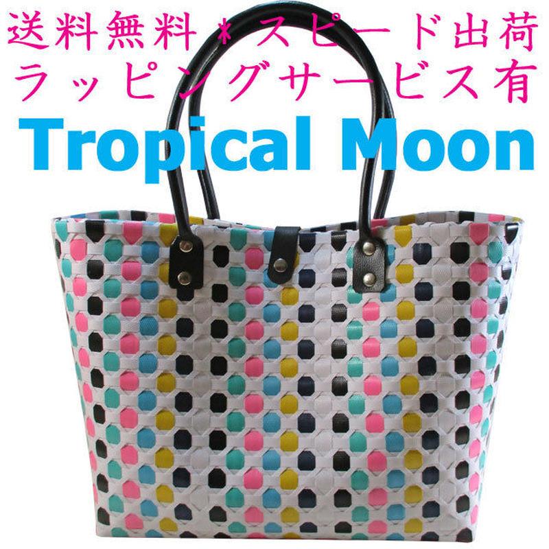 プラスチック かごバッグ 7色 プラかご 軽量 大きめ ベトナム 雑貨 v0990