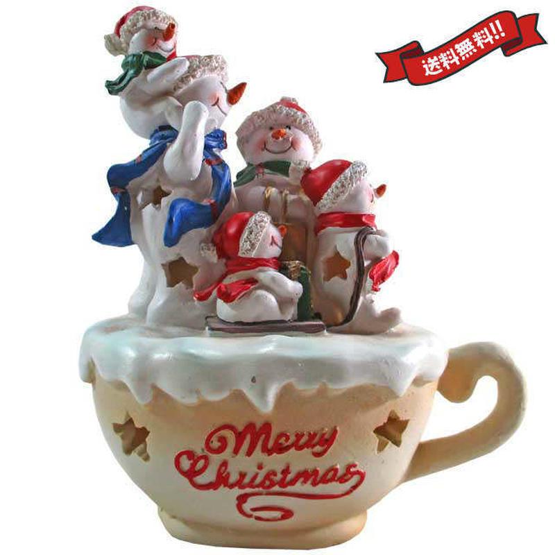 クリスマス 飾り スノーマン オブジェ 置物 陶器 インテリア i0304