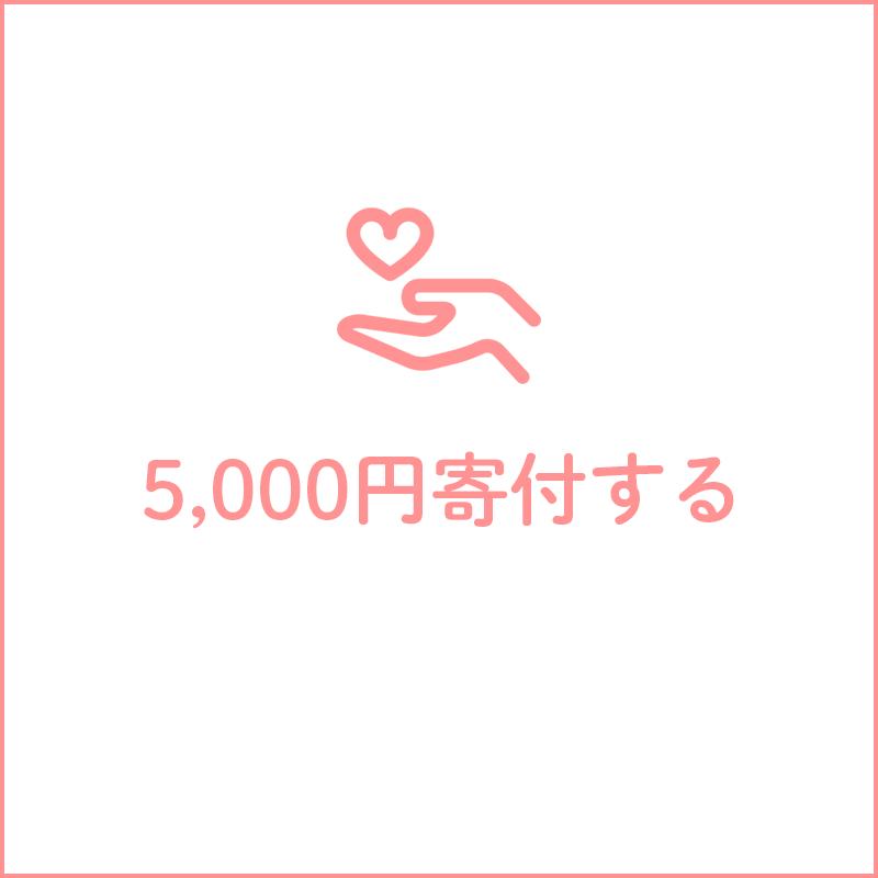 5,000円寄付する