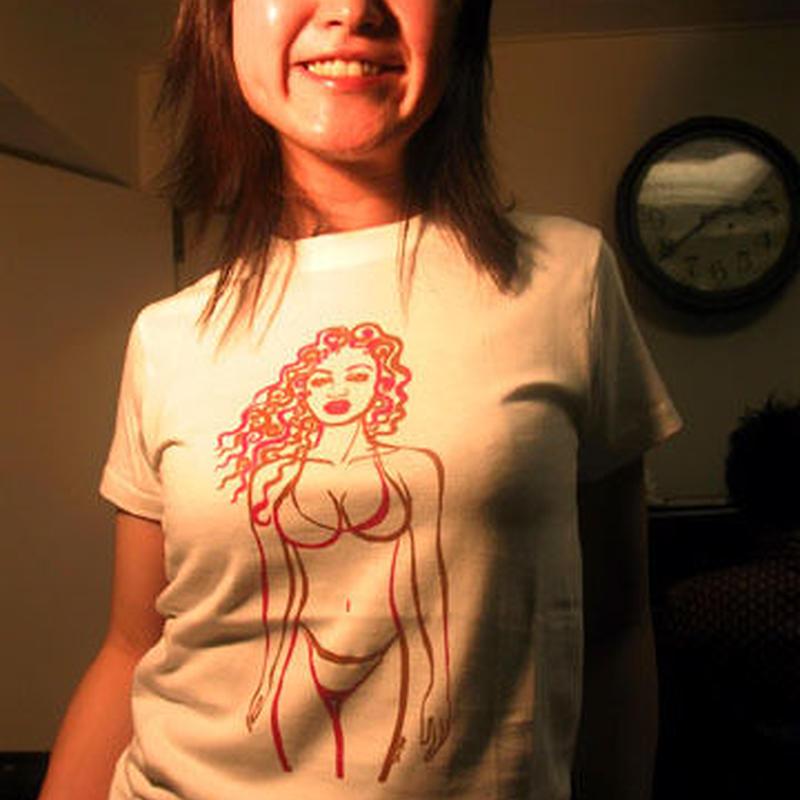 ラジカル鈴木Tシャツ Love...overcame all ホワイト