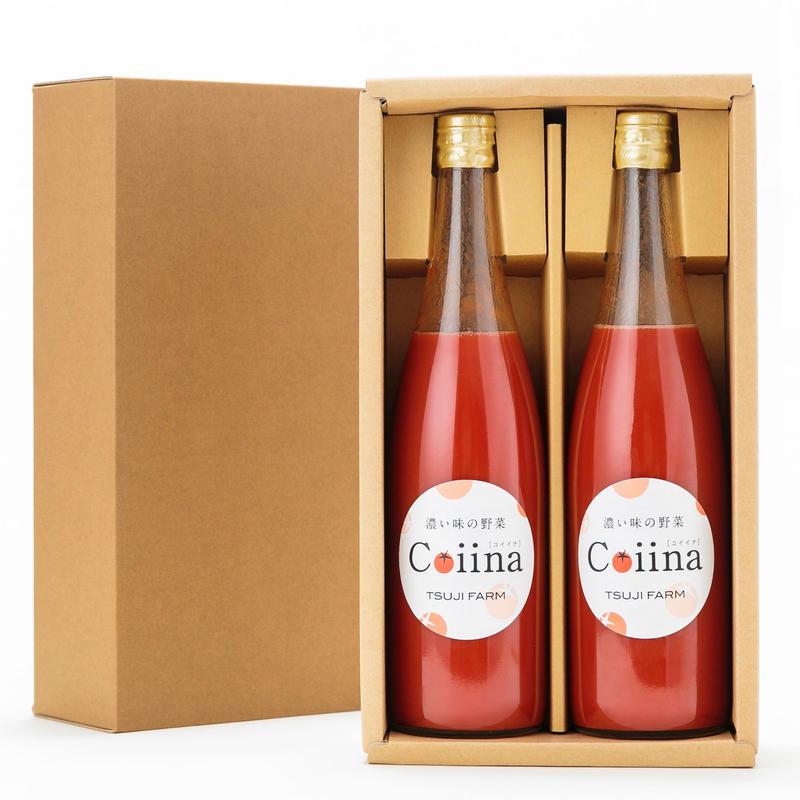 【贈答用】Coiinaトマトジュース化粧箱入り 赤2本
