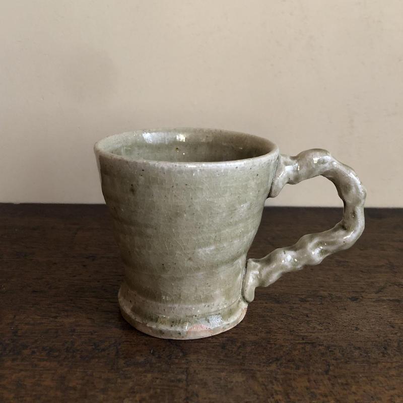 灰釉 マグカップ