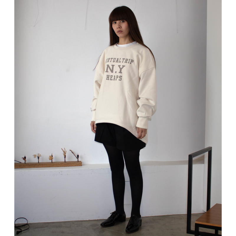 THOMAS MAGPIE  Crew  neck  sweatshirt  【VIRTUAL TRIP  N.Y  HEAPS】  No.2183804