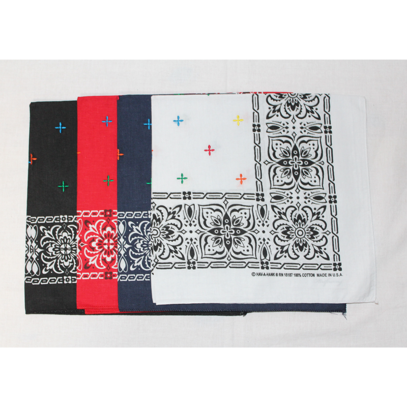 KNIFEWING EMBROIDERY BANDANA / CROSS COLOR