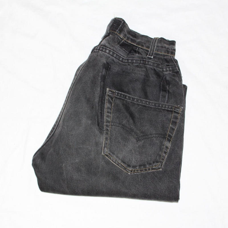 KNIFEWING USA 505 TUCK TAPERED WIDE PANTS BLACK