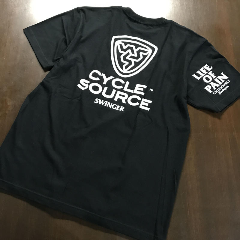 SWINGER_CYCLE SOURCE 1st  Tee_[Black]