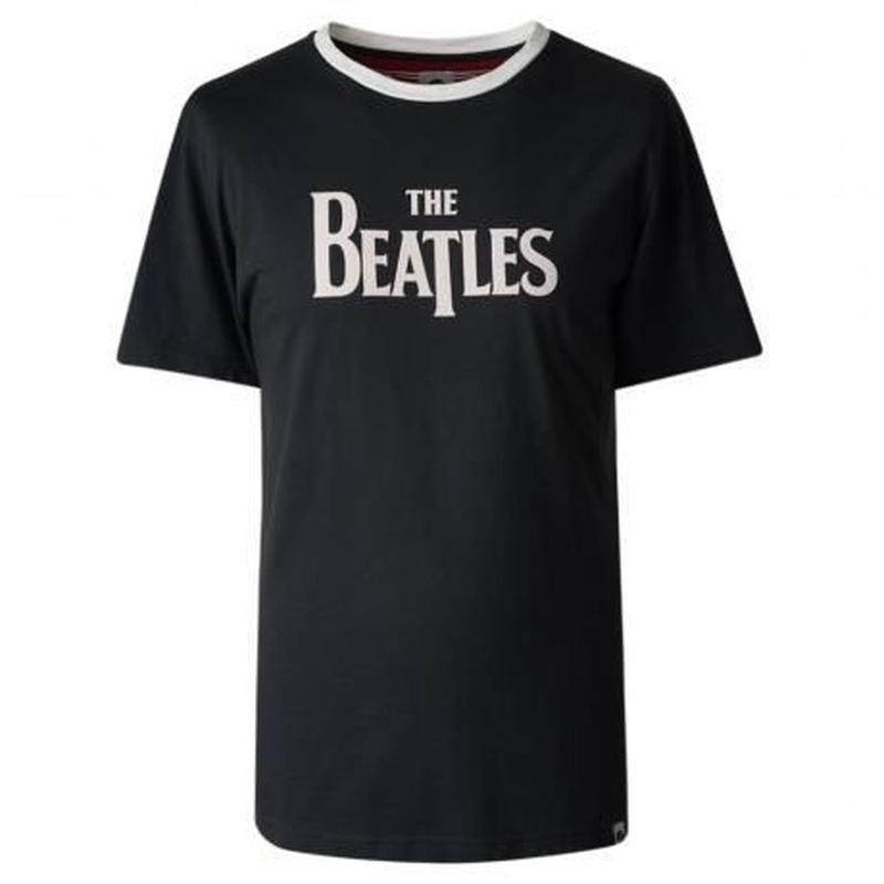 プリティ―グリーン SGT. SS THE BEATLES プリント クルーネック Tシャツ(ブラック)