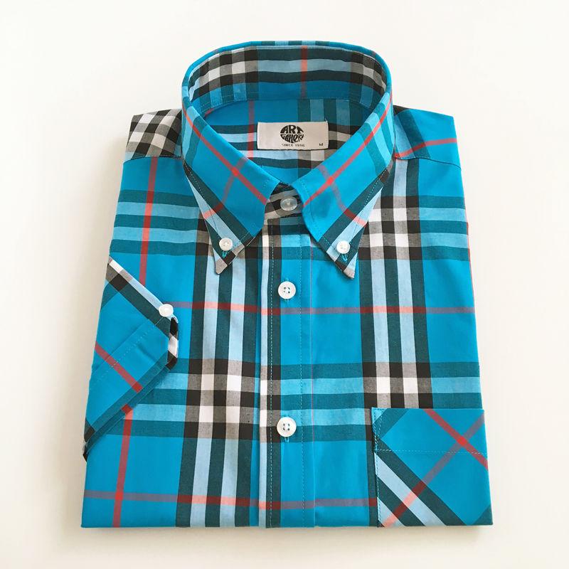 ART GALLERY S/S ボタンダウンシャツ〈ターコイズ〉