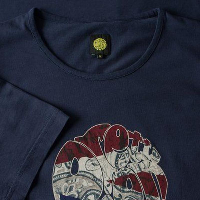 プリティーグリーンSSペイズリーユニオンジャック ロゴ Tシャツ