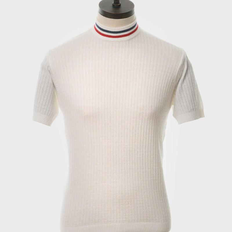 ARTGALLERYワッフルニットNolanTシャツ〈オフホワイト〉