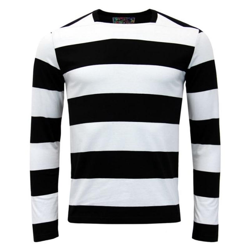 MADCAP ブライアン・ジョーンズ スタイル ブロックストライプ ロングスリーブTシャツ