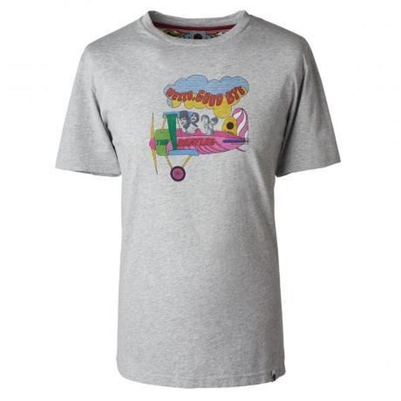 プリティーグリーン SGT. SS HELLO GOODBYE プリント クルーネック Tシャツ(ライトグレー)