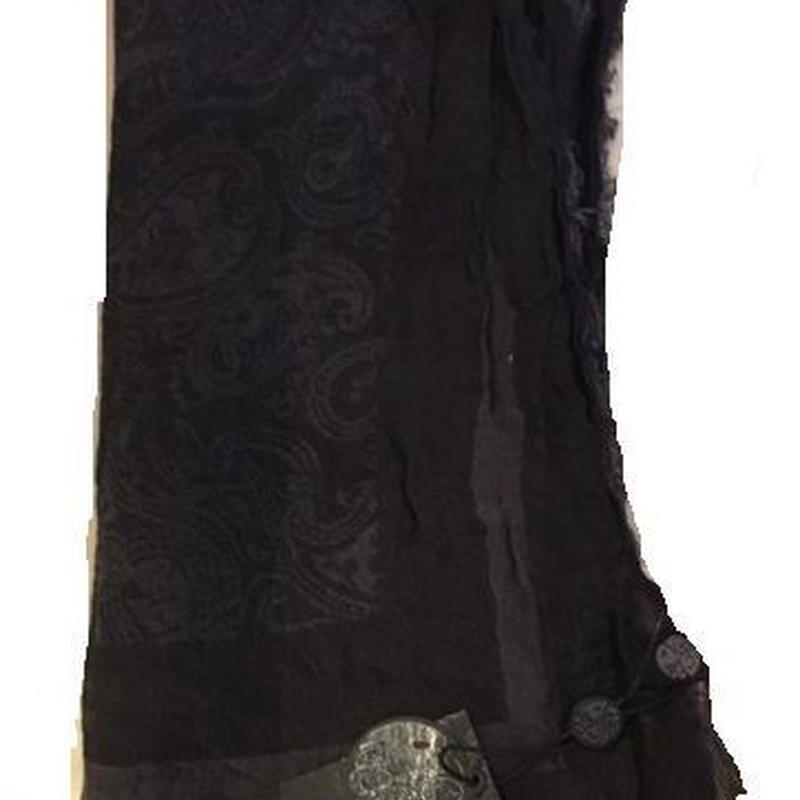 プリティーグリーン ASXGOペイズリー スカーフ(ブラック)