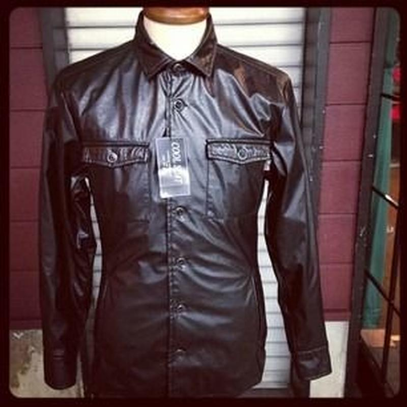 COOLSCAT FAKE LEATHER shirt