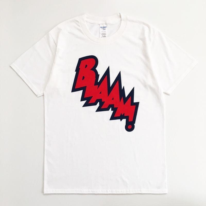 """POP GEAR """"BLAAM!"""" Tシャツ〈ホワイト〉"""