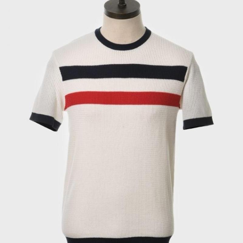 ARTGALLERYワッフルニットTシャツ〈オフホワイト〉
