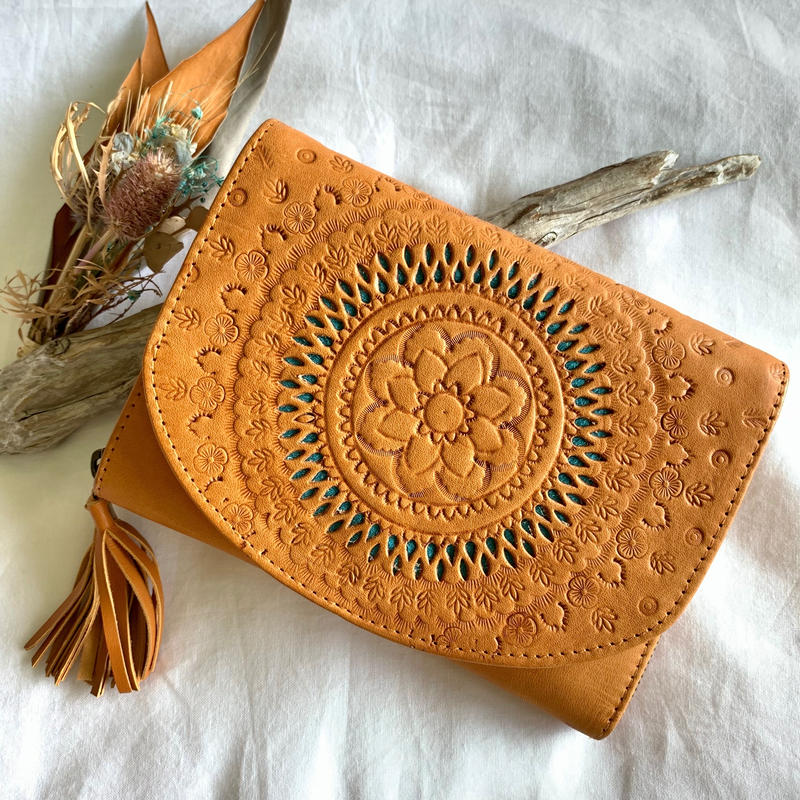 Carving Leather Wallet