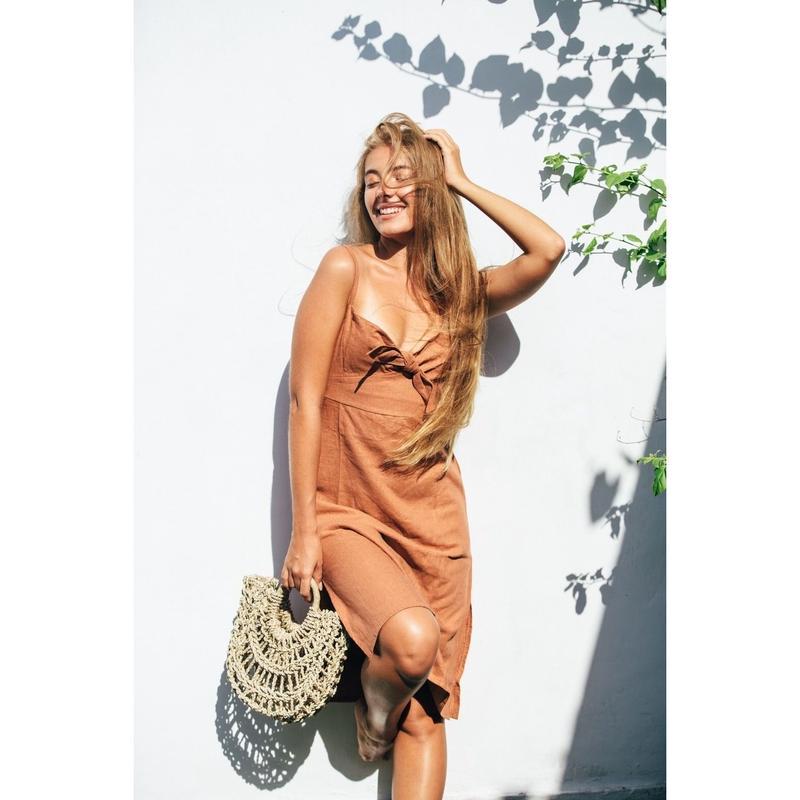 .Linen Midi Dress / 5 Colors