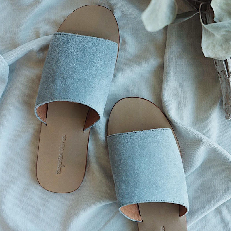Turquoise Blue Co. Suede Slide