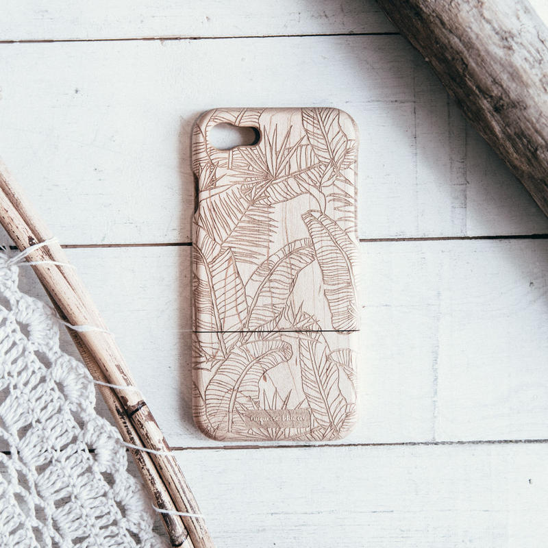 Botanical Leaf  Wooden iPhone Cover 6/7/7Plus