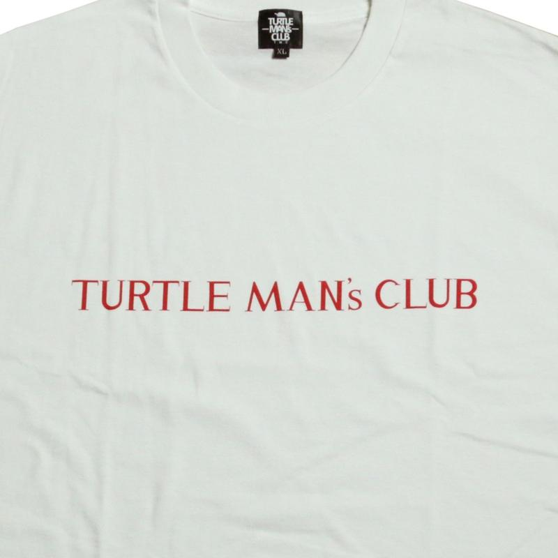 TURTLE MAN's CLUB T-SHIRTS   [WHT/RED]