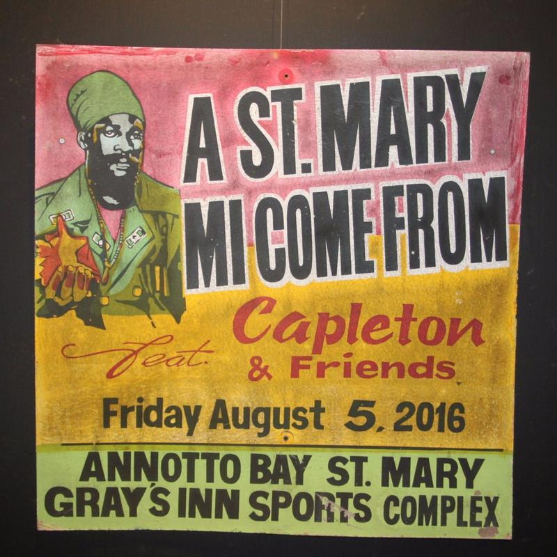 ジャマイカイベントサイン(イベント告知ボード)一押し!A ST MARY MI COME FROM[CAPLETON]