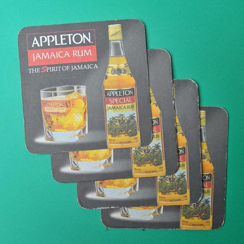 ジャマイカ産ラム「APPLETON」ペーパーコースター 旧型ボトルデザイン